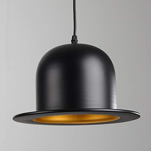 Popertr Creative Woodhouse Bowler Hats Lámpara de techo Lámpara de araña Cafetería Sala de estar Restaurante Tienda Decoración...