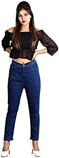 G GOD`S CLUB Ladies Super high Waist Single Button Super Skinny Fit Dark Blue Jeans