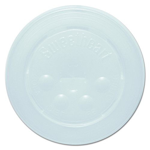 Solo L16BL-0100 Id Straw Slot Plastic Lid -translucent - For Solo Paper Cold Cups (Case of 2000)