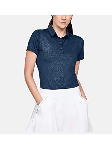 Under Armour Damen Zinger Short Sleeve Novelty Polo Poloshirt, Blau, X-Small