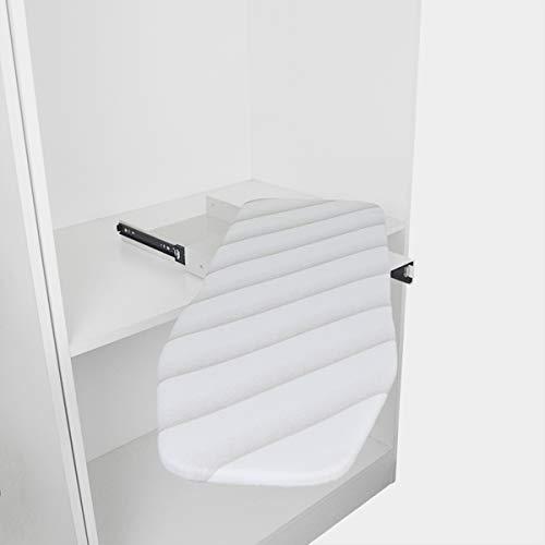 uyoyous Tabla de planchar extensible, plegable, giratoria, plegable, para cajón y armario, 950 x 300 x 90 mm