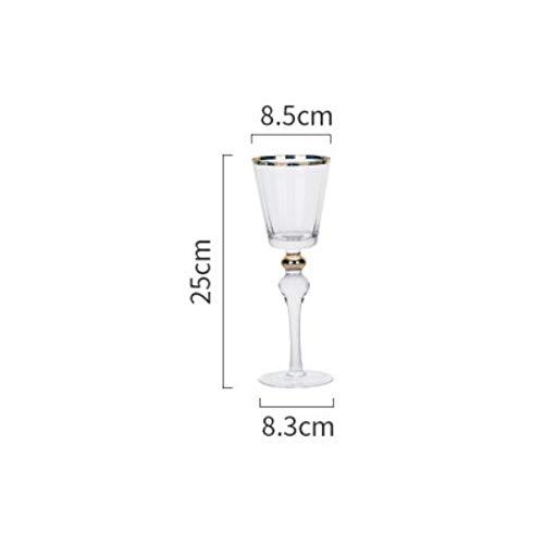 Goblet Whiskey Glazen Beker Kristal Glas Bekers Gouden Rand Transparant Champagne Whiskey Thuis Bar Drinkware Glas Beker 280 ml.