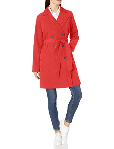 Amazon Essentials Water-Resistant Trench Coat Trenchcoats, Rot, M