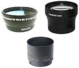 Wide Lens + Tele Lens + Tube Adapter bundle for Nikon Coolpix P530 & L830 Camera