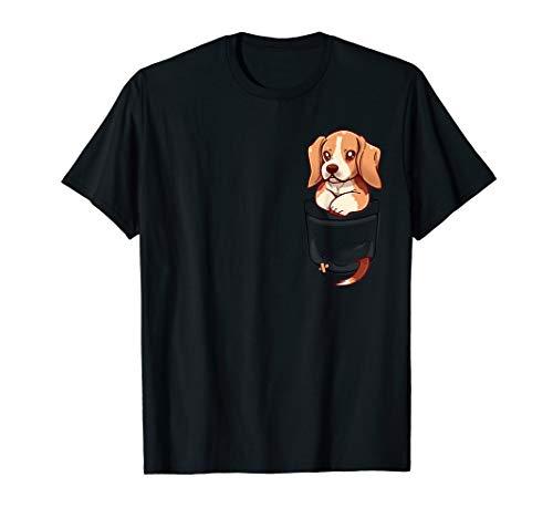 Pocket Cute Beagle Puppy Dog - Beagle-Hund Hündchen T-Shirt