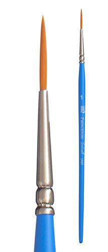 Princeton Art & Brush pennelli misti Select Artiste per olio, acrilico, acquerello Serie 3750, Blue, Liner 1