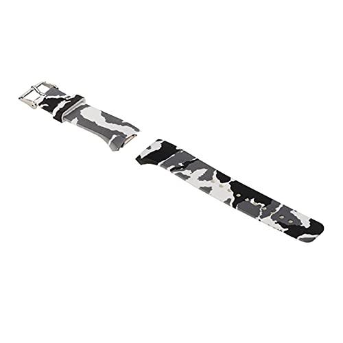 XINGFUQY Wheamband de Silicona Fit para Samsung Gear S2 R720 Correa de Banda de Pulsera de Repuesto Ajuste para Reloj Inteligente SM-R720 (Band Color : Camouflage Gray)