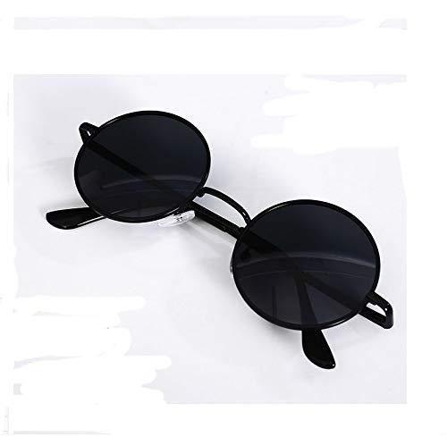 NUWIND Anime Jujutsu Kaisen Cosplay Gojo Satoru Runde Sonnenbrillen Retro Brille Schwarz Unisex Kostüm Zubehör (B)