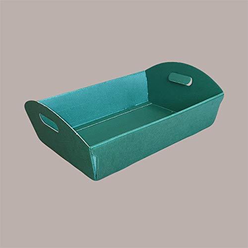 LUCGEL Srl - 10 cestas pequeñas de cartón con forma de onda verde (220 x 155 x 60 cm) para composición, paquete de regalo de Navidad y Pascua