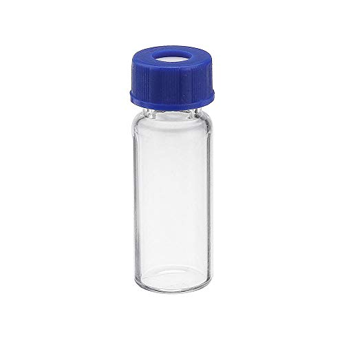kengbi Household Industrial Products 100Pcs/Set 2ml Ungraduated Clear Sample Vials Autosampler Vials Bottles Threaded Vial w/Write-on Spot Screw Caps Septa