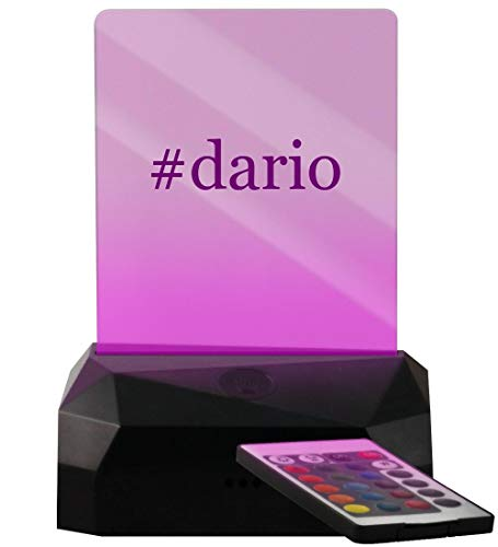 #Dario - Hashtag LED USB Rechargeable Edge Lit Sign