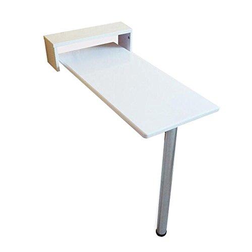 Zaixi Table de Mur Blanc Pliable Solide en Bois à Manger Table pour Ordinateur de Bureau Restaurant Dortoir Snack Bar 8 Tailles Disponibles Forte capacité portante (Taille : 95 * 30 * 91cm)