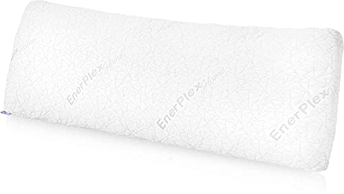 EnerPlex Adjustable Body Pillow for Adults - Plush Shredded Memory Foam w/ Cooling Bamboo Cover - Full, Long Body Pillows for Sleeping - Reading Pillow for Bed Rest and Backrest Pregnancy