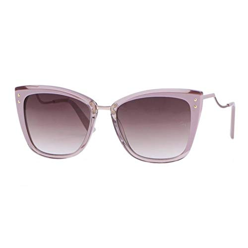 Ana Hickmann AH9279 P03, Gafa de Sol con Curvatura en las Varillas, Montura de Acetato Color Rosa, Con Protección UV400