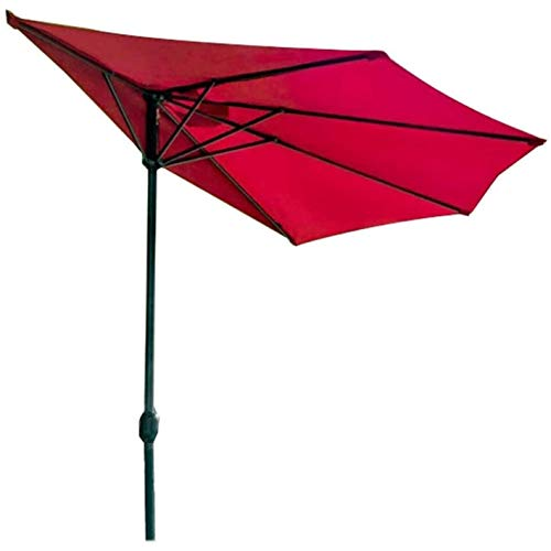SJBD-Coaster Sombrilla de Playa Sombrilla semicircular para Patio con sombrilla de manivela fácil para jardín, Patio, sombrilla semicircular al Aire Libre para Paredes (Color: Umbrella)
