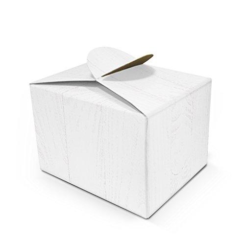 10 kleine WEISSE Geschenkschachtel Geschenkkarton Geschenk-box mini-Kartons Faltschachtel Größe 8 x 6,5 x 5,5 cm Verpackung Tischdeko Gastgeschenk Mitgebsel give-away kleine Sachen + Dinge