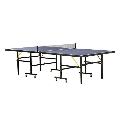 Sport1 Indoor, Mesa Ping Pong Tennis/Plegable/Medidas reglamentarias Federación Internacional/CM 152,5 x 274 x 76 Niño, Azul