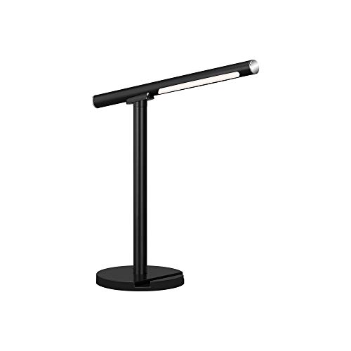 Briloner Leuchten - LED Tischleuchte, Tischlampe, inkl. Wandleuchte, dimmbar, Farbtemperatursteuerung, 1,5 Watt, 200 Lumen, Schwarz, 140x140x370mm (LxBxH), 7384-015