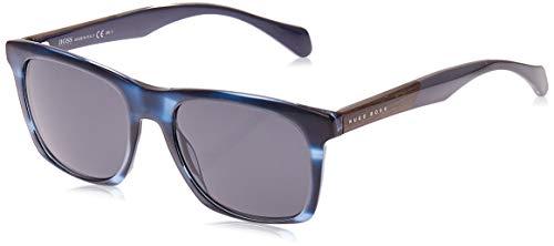 Hugo Boss Boss 0911/S IR 1JV Gafas de sol, Azul (Horn Crybluee/Grey Blue), 53 Unisex-Adulto