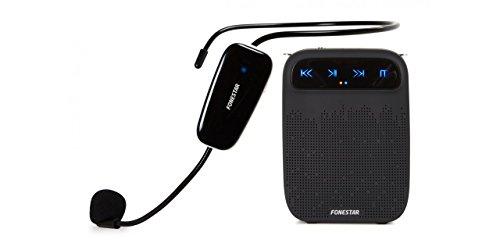 FONESTAR Amplificador PORTÁTIL Alta-Voz-W 18W MAX. MICRÓFONO INALÁMBRICO UHF Grabador/Reproductor USB/MICROSD/MP3 Bat 2000MAH