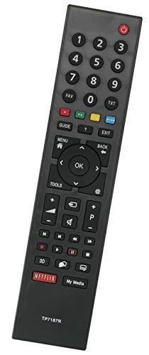 ALLIMITY TP7187R Fernbedienung Ersatz für GRUNDIG LED LCD TV 32VLE7239WR 32VLE8130SL 26VLE7201BH 32VLE7139BR 32VLE812S 32VLE8130WL 42VLE971BL 26VLE8200BL 40VLE8270CP 42VLE9270BH