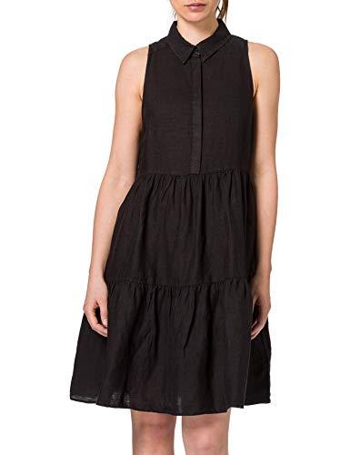 REPLAY W9672 Vestido, 998 Blackboard, S para Mujer