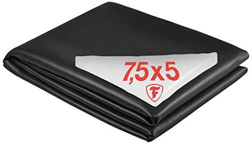 Firestone Teichfolie PondGard EPDM - vulkanisiert schwarz 1 mm - für professionelle Anwendungen - Zuschnitt 7,62 x 5 m