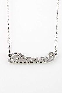 Collana nome BIANCA in acciaio inossidabile. Nome Bianca. Perfetto per idea regalo. Handmade. anallergico no nichel