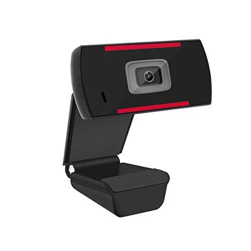 YoLuKe Webcam 1080P HD PC, cámara Web con micrófono, cámara Web 30FPS USB 2.0, Plug and Play, Compatible con Windows XP / 7/8/10, Mac, computadora portátil de Escritorio