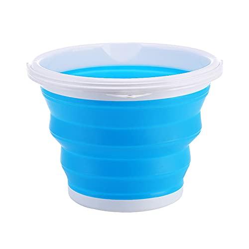 Xia jie sheng huo guan Cubo plegable portátil de silicona de plástico al aire libre plegable cubo de lavado de coches cubo portátil