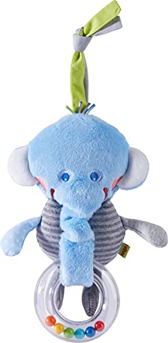 HABA 305789-Hängefigur Elefant, Hängefigur AB 6 Monaten Figura Colgante, Color carbón (305789)