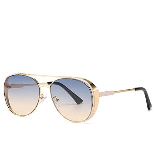 AMFG Chapa de metal retro Gafas de sol Personalidad Toad Marco Gafas de sol Mujeres y hombres Moda Gafas de sol (Color : D)