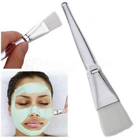 LYYCEU Masque Facial Brosse Yeux Maquillage de Visage cosmétique Douce beauté Pinceau Haut Outils de Maquillage de qualité (Blanc) R (Color : White)
