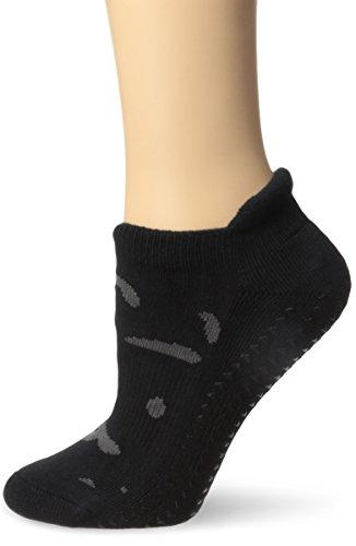 Pointe Studio Women's Kirby Barre Yoga Cushioned Grip Socks, Black, M/L