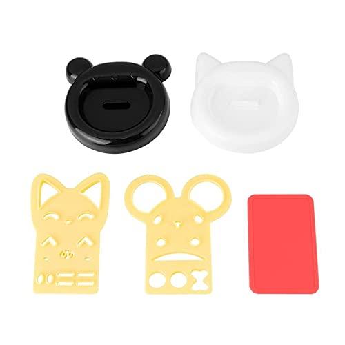 WLKH 5 piezas lindo gato oso sushi nori arroz molde decoración cortador Bento Maker sándwich DIY herramienta accesorios de cocina (color: 1 juego)
