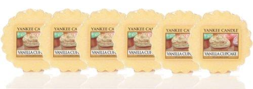 Vela grande «Vanilla Cupcake» de Yankee Candle, aroma a vainilla, 6 Wax Melts