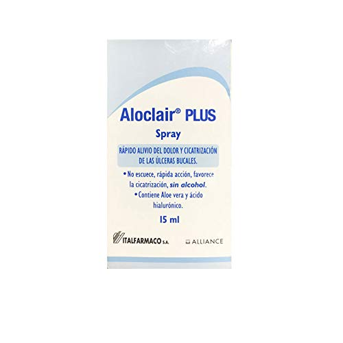 ITALFARMACO ALOCLAIR PLUS SPRAY 15ML FAVORECE LA CICATRIZACION DE LAS ULCERAS BUCALES