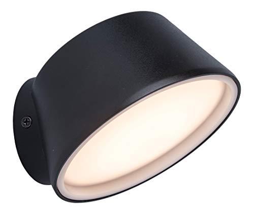 LUTEC Dakota Lámpara LED de pared exterior con control inteligente, tonos blancos ajustables, colores RGB, temporizador y mucho más sobre la aplicación Tuya, 800 lúmenes, antracita, Ø12 cm