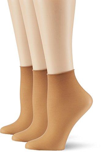 Hudson Damen Simply 20 3er-Pack Socken, 15 DEN, Beige (Make-up 0019), (Herstellergröße: 35/38)