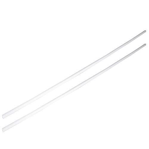 Othmro ABS Square Rod 2PCS 4x4mmx50cm,Square Rod Model Building Tube Section White ABS(Acrylonitrile Butadiene Styrene)