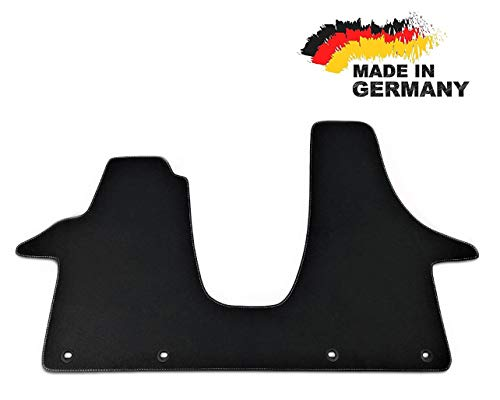 Car Styling Premium Fußmatte T5 2-3 Sitzer Fahrerhaus Velours ANTHRAZIT Nubuk Umrandung