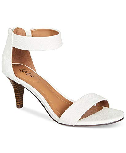Price comparison product image Style & Co. Womens Paycee Leather Open Toe Special,  White Snake,  Size 10.0