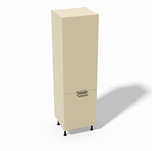 Colonna frigo per Cucina componibile 2 Sportelli - Modello Quadra LT280 Colore Bianco Opaco