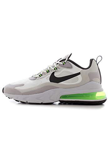 Nike Air Max 270 React, Scarpe da Ginnastica Uomo, Bianco (Summit White/Electric Green/Vapste Grey/Silver Lilac/Thunder Grey), 40 EU