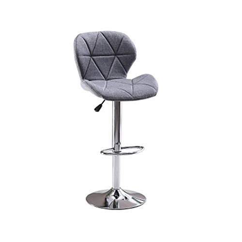 Zhicaikeji Seggiola da Bar Semplice Sgabello Alto di Sollevamento Rotante Bar Chair Pianale da Cucina Sgabello Dining Chair per Casa (Colore : Grigio, Size : Sitting Height 60-80cm)