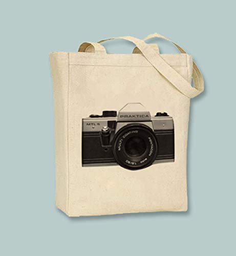 Vintage Praktica bolsa de lona para cámara
