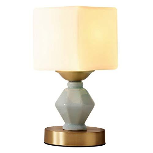 ZhouWanSan tafellamp Modern Celadon met koperen voet (12X27cm)