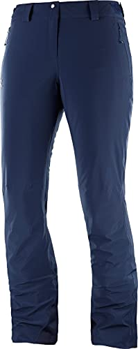 Salomon, Pantaloni da Sci per Uomo, ICEMANIA PANT M, Tessuti Sintetici, Blu (Night Sky), Taglia S/R, LC1004300