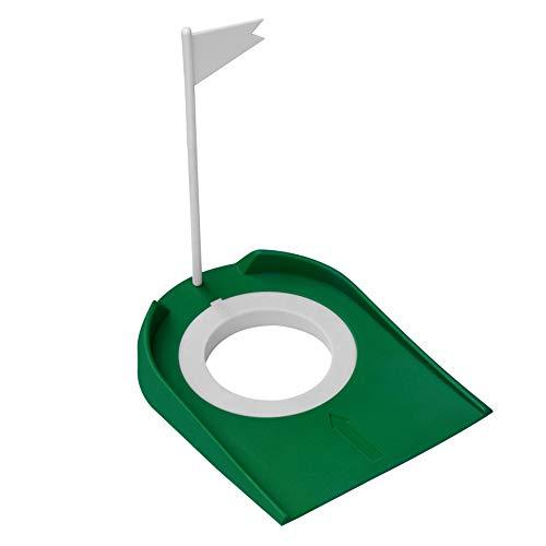 Taza De Práctica Clásica De Golf, Herramienta De Entrenamiento De Práctica Interior, Diseño De Agujero Ajustable, Plástico Duradero, Mejore Su Exactitud Putting, Para El Paquete De Golfistas Oficina 2