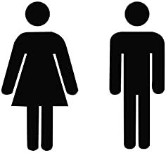 "Deurplaatje set ""Frau+Mann"" toiletbord acryl 150 mm x 84 mm heren/dames borden toiletbordjes"